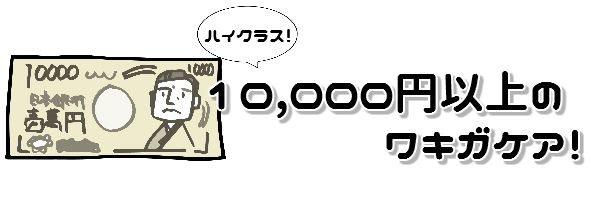一万円以上のワキガケア